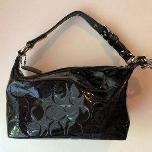 COACH - small patent leather handbag